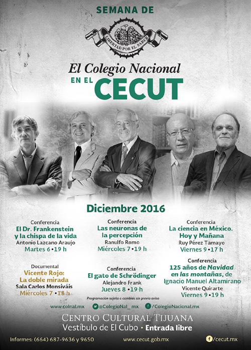 El Colegio Nacional en el CECUT.